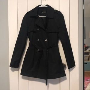 Size Large, Black Express Trench Coat